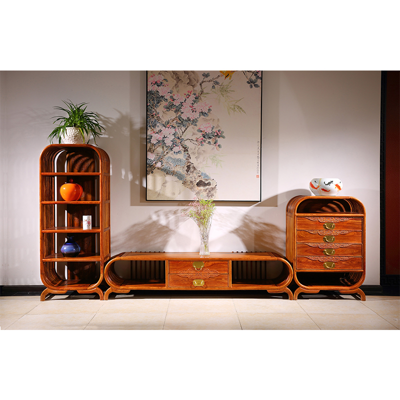 US $5000.0 |3pcs/set Living Room TV Stand Unit Cabinet Console Furniture  Hedgehog rosewood Mahogany furniture Antique TV Stand-in TV Stands from ...