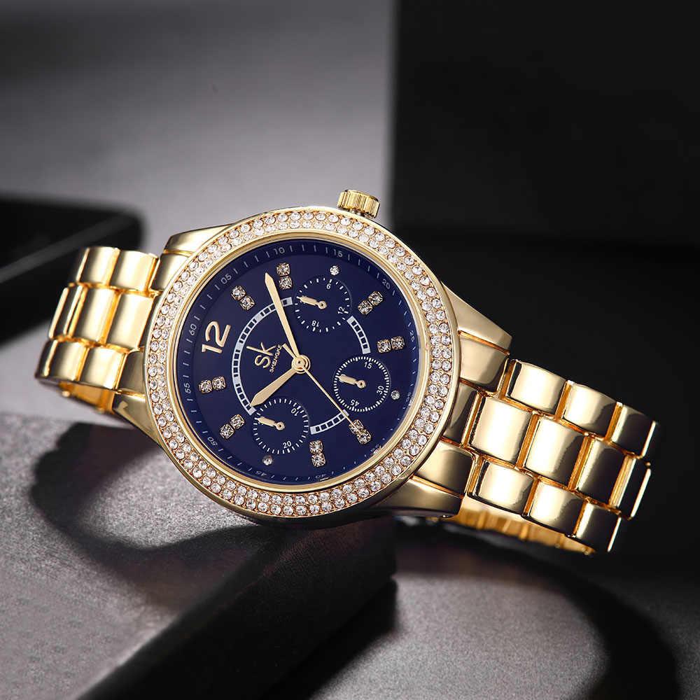 cd0c4070e52 ... Shengke Luxury Quartz Watch Women Ladies Stainless Steel Bracelet  Watches Reloj Mujer 2019 SK Rose Gold ...