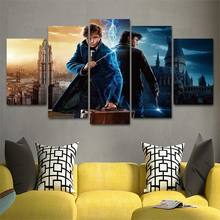 Harry Potter Newt Movie 5 Pieces HD Print Painting Canvas Wall Art Picture Home Decoration Living Room