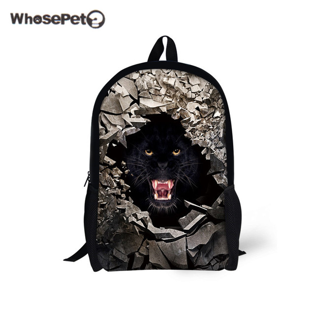 e3213c6cd3 WHOSEPET Tiger Puma Backpacks Girl s Boy s Fashion Schoolbag Rucksack  Travel Causal Satchel Men Teenagers Fashion Shoulder Bags