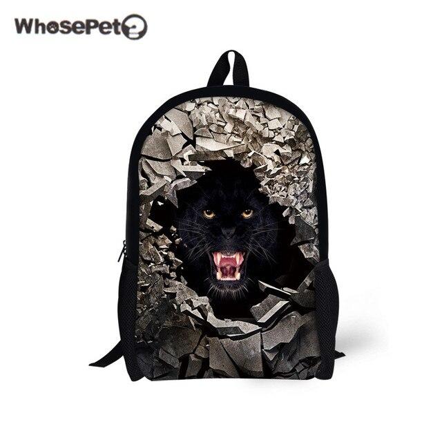 b45bf33a3b WHOSEPET tigre Puma sacs à dos fille garçon mode cartable sac à dos voyage  casual cartable