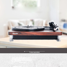 Record Player Music Turntable 33 RPM Black Glue Antique Gramophone Disc Vinyl Audio RCA Out USB Charger DC5V Adapter Power