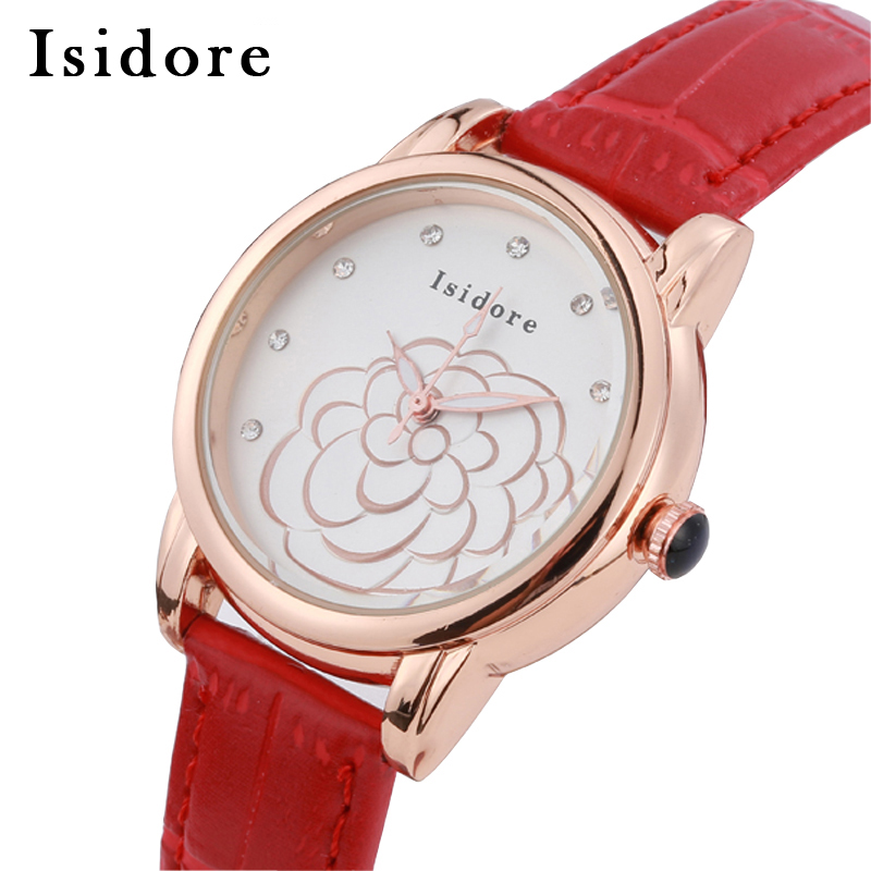 Brand Luxury Women Red Watches Fashion Casual Quartz Ladies Watch Super Soft Leather Relojes Mujer Waterproof