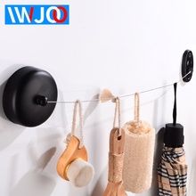 3.8m Retractable Clothesline Indoor Outdoor Laundry Hanger Dryer Organiser Clothes Drying Rack Rope Stainless Steel