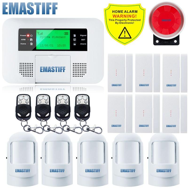 Free Shipping!Wireless GSM PSTN Alarm system Home security Alarm systems LCD Menu screen Keyboard NEW PIR Door Gap Sensor