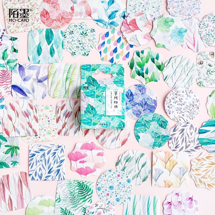 45PCS/box The Language Of The Grass Diary Paper Lable Stickers Crafts And Scrapbooking Decorative Lifelog Sticker DIY Stationery45PCS/box The Language Of The Grass Diary Paper Lable Stickers Crafts And Scrapbooking Decorative Lifelog Sticker DIY Stationery