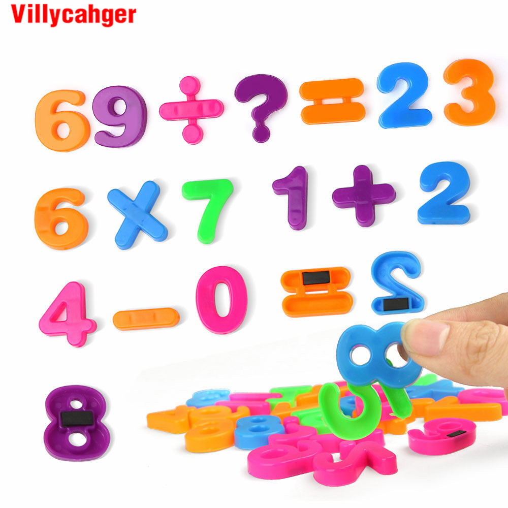 26pcs/set 3CM Magnet Numbers Puzzle Colorful Sticker Memorandum Educational Learning Toy Digital Operation Gift For Kids
