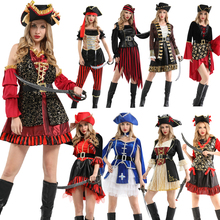 Halloween Purim Carnival Adult Woman Caribbean Pirate Costume Pirates Costumes Dress Fancy Cosplay Clothing Set for Women цена в Москве и Питере