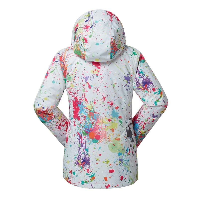 GSOU neige dame hiver Ski costume coupe-vent imperméable respirant chaud veste de Ski neige vêtements pour les femmes taille XS-XL - 2