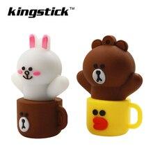 Brown Bear And Kenny Rabbit USB 2.0 Memory stick 4GB 8GB 16GB 32GB 64GB 128GB USB Flash Drive Pendrive