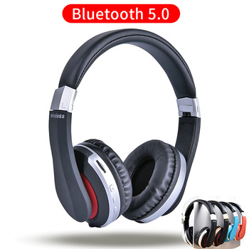 MH7 Wireless Headphones Bluetooth Headset Foldable Stereo Gaming Earphones With Microphone Support TF Card For IPad Mobile Phone 1