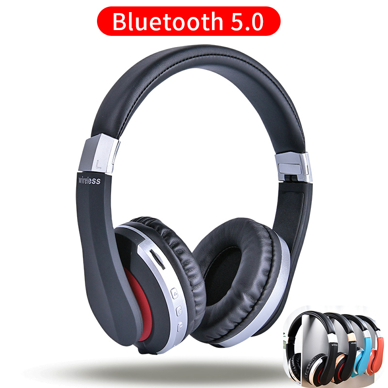 MH7 Wireless Headphones Bluetooth Headset Foldable Stereo Gaming Earphones With Microphone Support TF Card For IPad Mobile Phone reflection