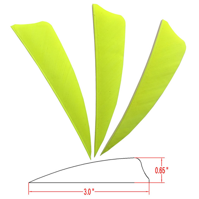 200 Pcs ONTFIHS 3inch Arrow Feathers Shield Cut Archery Hunting Arrow Fletches Real Plume Turkey Feather Fletching