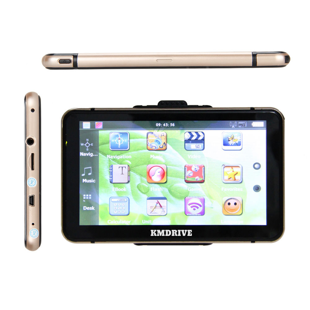 KMDRIVE 7 Inch Touch Screen 256M 8GB Car GPS Navigation Sat Nav bundle Free Maps