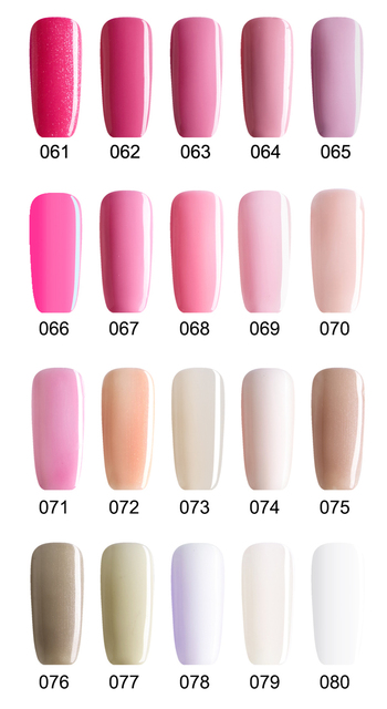 Buy 5 Get 1 Free, Pink Nail Gels Soak Off LED UV Nail Gel Lacquer, Long Lasting No Chip  (DHL Global Mail Delivery)