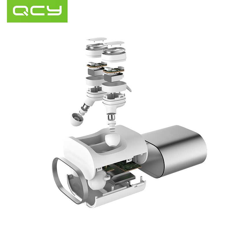 Qcy t1 pro touch control tws fones de ouvido bluetooth esportes fone de ouvido sem fio com microfone e 750 mah caso carregamento