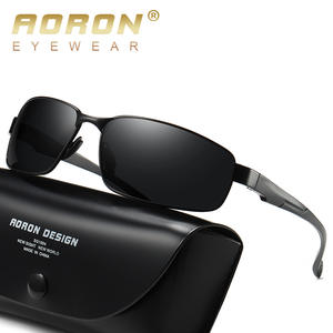 AORON Sunglasses Driving Rectangle Classic UV400 Sports Men Polarized for Male Anti-Uv