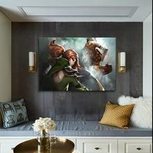 цена 1 Panel Windranger And Juggernaut Dota 2 Game Heroes Canvas Painting Framework Or Framless Modern Home Decorative Wall Artwork онлайн в 2017 году