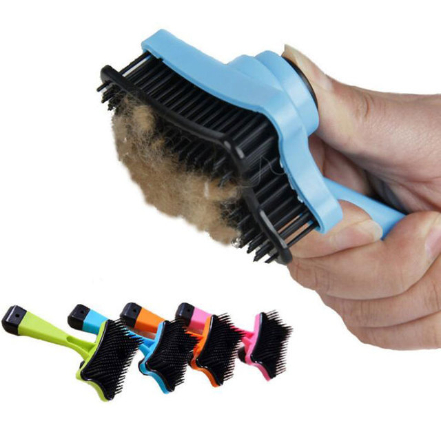Pet Cleaning Bath Brush Self Cleaning Shedding Comb Hair Removal Mitt Soft Brush Dogs Cats Comb Fur Grooming Products Care Tool