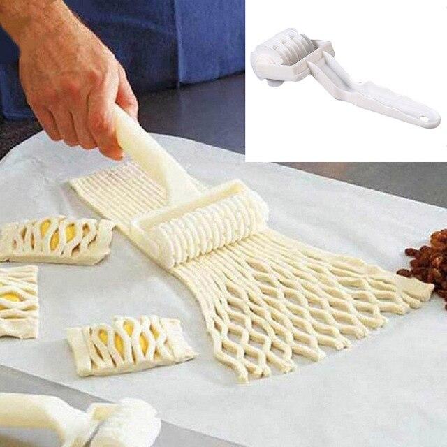 Высокое качество малый Размеры Пластик тесто для выпечки инструмент пирог пиццы, печенья решетки ролик Резак Ремесло кухонные принадлежности