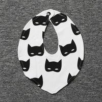 30pcs Wholesale Baby Bibs Ins Banana Panda Penguin Triangle Clouds Batman Children Fashion Cotton Bibs Carton