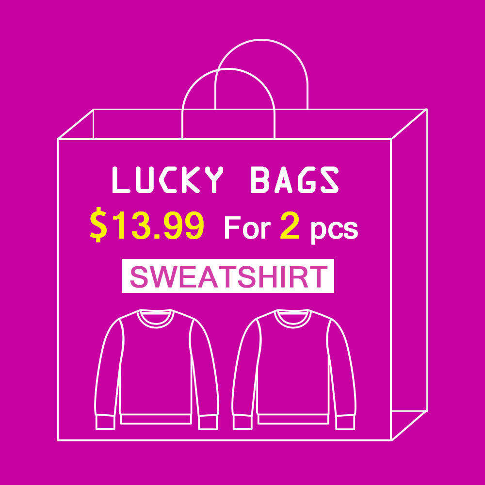 Women's Clothing Fast Deliver Vip Fashion Lucky Bags 2pcs 13.99 Big Surprise Printed Women Hoodies Style Hoodie Swearshirt Send Randomly Elegant And Sturdy Package