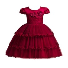 Fashion Flower Girls Dress Baby Kids Birthday Party Outfit Children Wedding Bridesmaid for Princess Dresses