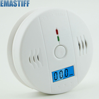 LCD CO Carbon Monoxide Poisoning Sensor Warning Alarm Detector Tester White