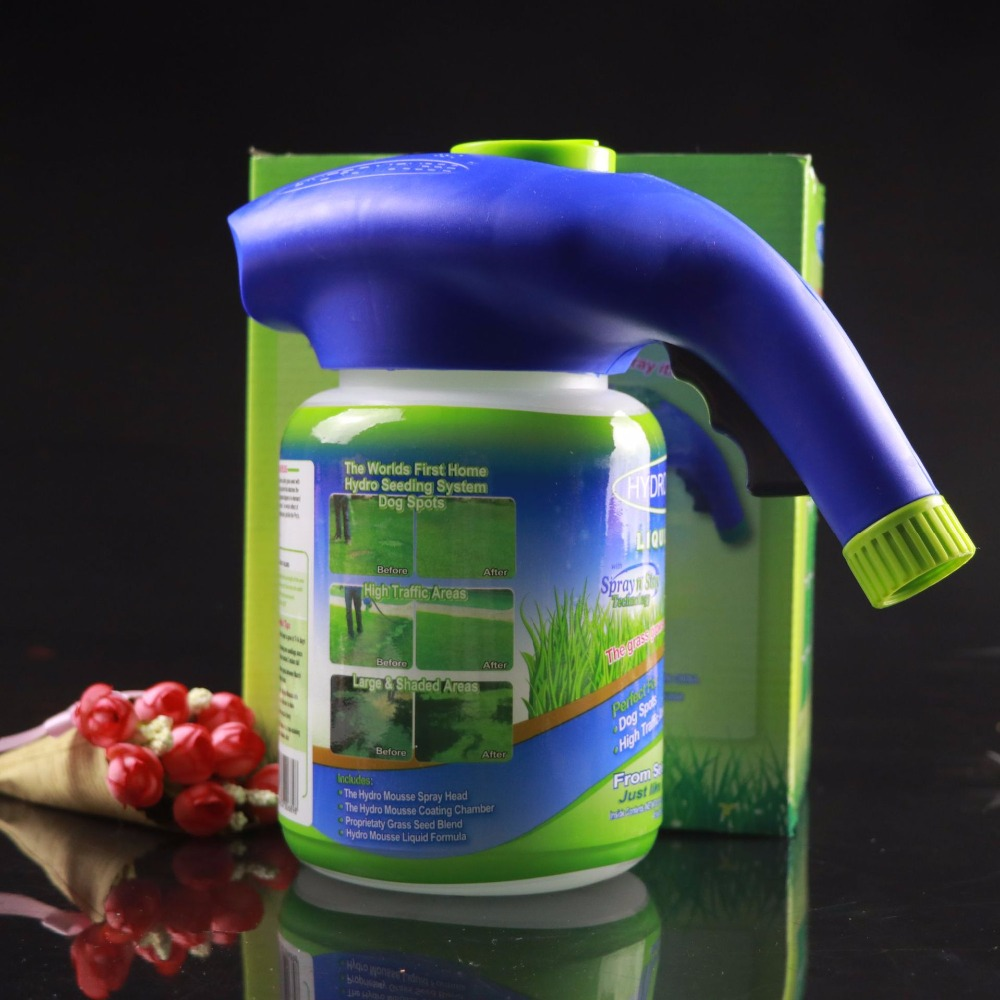 Hydro Mousse Liquid Lawn Seed Sprinkler Plastic Watering Can Quick And Easy Sprayers With Growth Substance Furniture Tool Cover