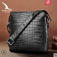hanlante Thai crocodile skin  Cross-body bag mens leather high-grade belly casual shoulder