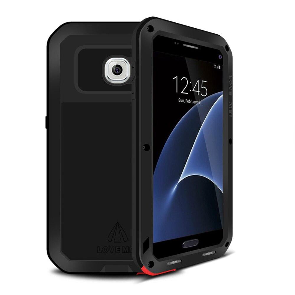 Цена за Алюминиевый металлический чехол для телефона Samsung S7 чехол Armor Водонепроницаемый Gorilla Glass рамка для Samsung Galaxy S7 чехол противоударный
