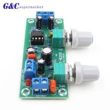 цена на Preamplifier Stereo Tone Board NE5532 Subwoofer Filter DC 10-24V Low-Pass Preamplifier PCB Module