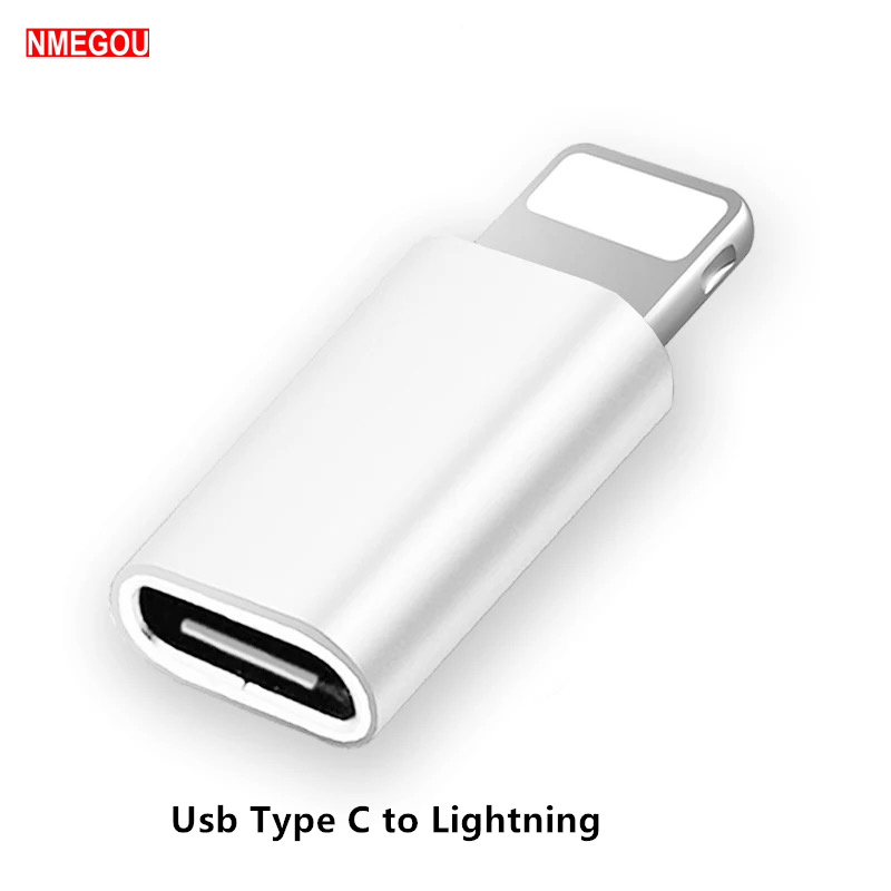 USB C Female To IOS Male <font><b>Adapter</b></font> for Apple <font><b>IPhone</b></font> X XR XS Max 8 <font><b>7</b></font> 6 6S Plus Type-c To 8pin Charging Sync Charger Cable Converter image