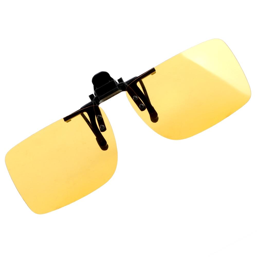 LEEPEE Clip On Sunglasses Driving Night Vision Lens  Polarized Sun Glasses Interior Accessories Driver Goggles Anti-UVA UVB