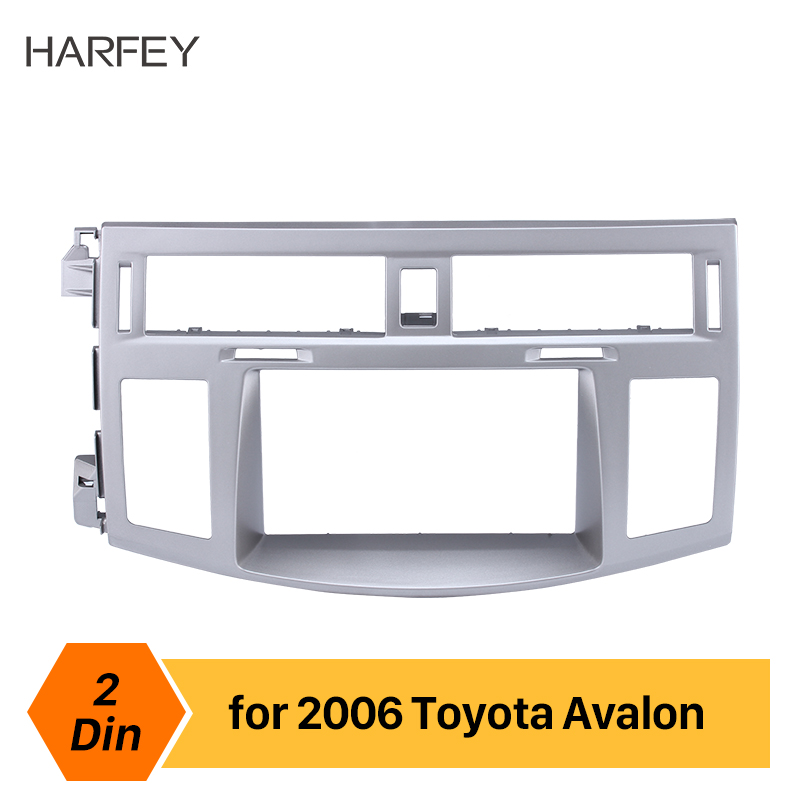 Harfey Double Din 178*100mm Car Radio Fascia Frame Adapter CD Trim Panel For Toyota Avalon 2006 Installation kit Cover Trim