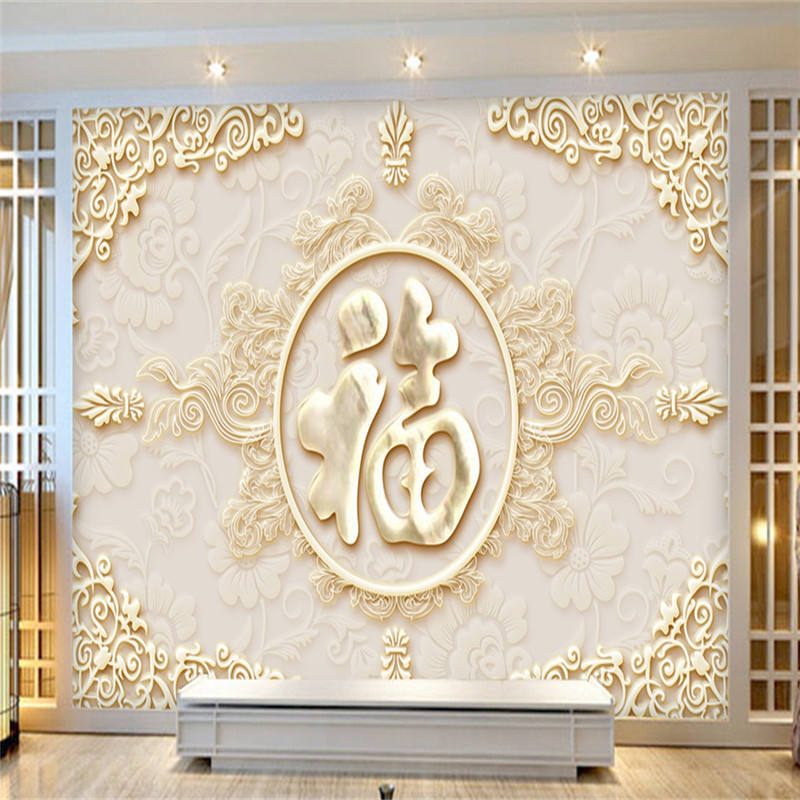 Custom Photo Wallpapers Chinese Luxury Marble Wallpapers 3D Wall Murals Carved Flowers Wall Papers for Living Room Modern Murals circle mirror photo wallpapers 3d modern abstract murals wall papers home decor wallpapers for living room wall paste wall mural