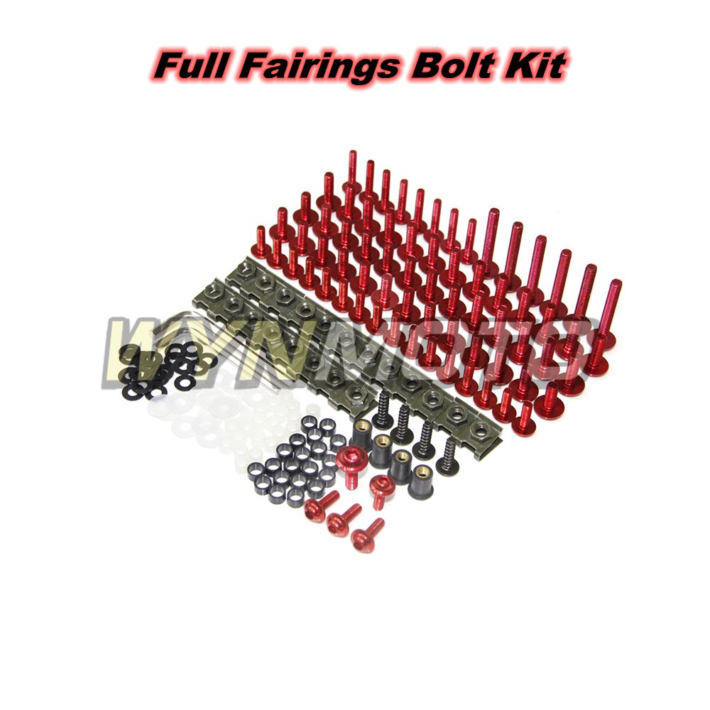 Complete Fairings Bolt Kit For Yamaha YZF600 R6 2006 2007 2008 2009 2010 2011 2012 2013 2014 2015 2016 Screws Hardware Clips