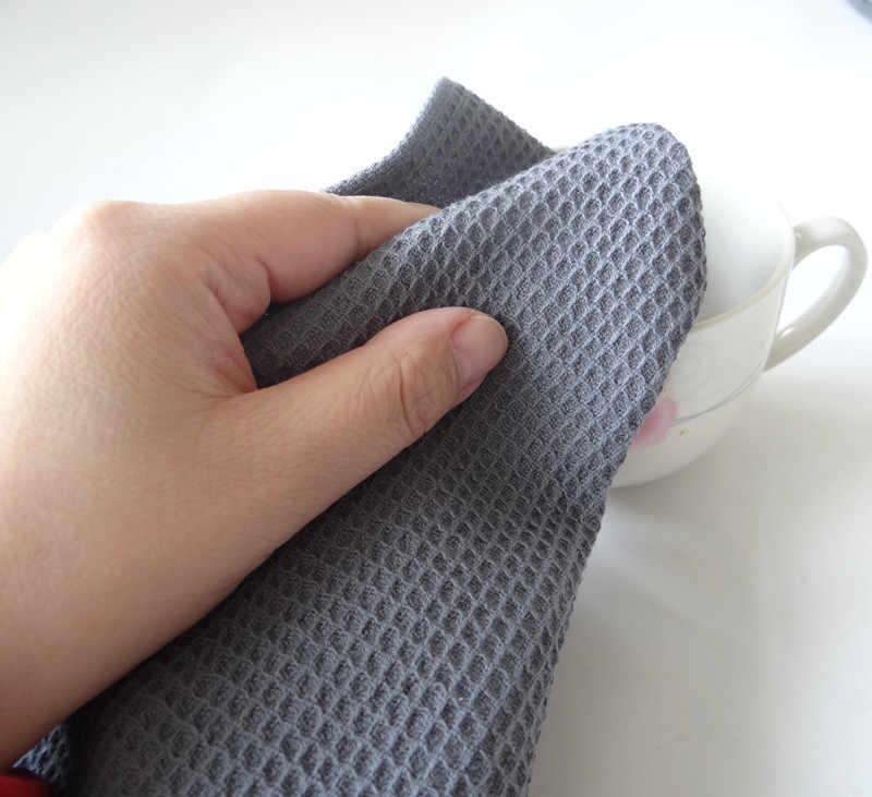42X63 CM coton Table serviettes coton cuisine gaufre motif torchon absorbant plat nettoyage serviettes Cocktail serviette pour les mariages