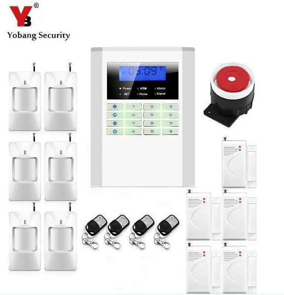 Yobang Security 850/900/1800/1900 Wireless GSM/PSTN Home Security Burglar Voice PIR Alarm System Auto Dialing Dialer SMS Call wireless gsm pstn auto dial sms phone burglar home security alarm system yh 2008a