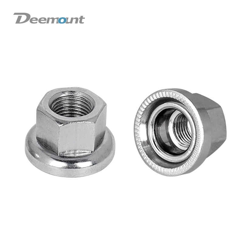 Deemount Fixed Gear Bicycle Hub Nuts Front Rear Drum Hub Axle Fastening M9 M10 Nut With Anti-skid Texture for Firm Mount