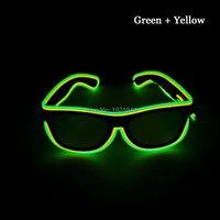 EL tel halat kablo parlayan Gözlük Toptan Ürün 5 adet Neon soğuk Işık için Sürücü üzerinde Sürekli Kızdırma Parti ile Gözlük dekor