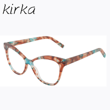 Kirka New Brand Women Optical Glasses Spectacle Frame Cat Eye Glamorous Eyeglasses Computer Reading Glasses Eyewear