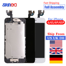 цена на For iPhone 6 S 6S Plus LCD With 3D Force Touch Screen Digitizer Assembly Display 6Plus 6SPlus No Dead Pixel Ship From US UK DE