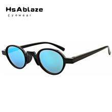 Hsablaze gafas new llegada piernas primavera ronda gafas de sol moda hombre pequeño reflectante marco mujeres gafas de sol gafas de sol mujer