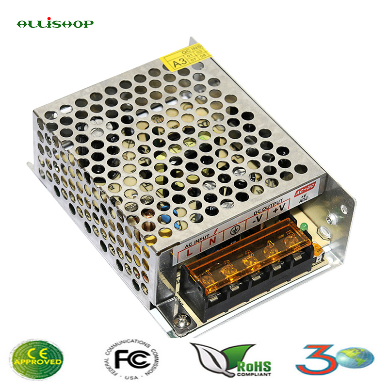 AllISHOP 12v power supply 2a dc adjustable material escolar ac 110-120v switching power supply source of power for computer led daphne a source of pharmaceuticals