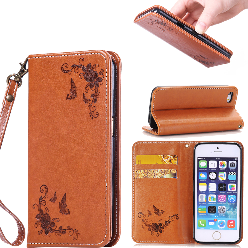 For iPhone 5 5S Cases Printing Luxury PU Leather Wallet Flip Cover Phone Case for iPhone SE Case for iphone 5s Bag for iphone se