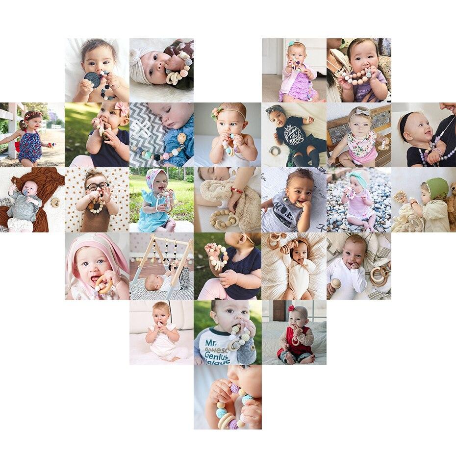 Купить с кэшбэком Silicone Beads Set Diy Baby Teething Necklace Cartoon Ice Cream Food Grade Silicone Teether For Baby Tooth BPA Free Baby Teether
