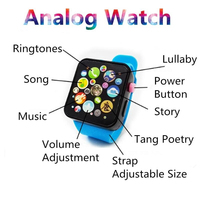 Children Kids Early Education Toy Wrist Watch 3D Touch Screen Music Educational Toys Baby Gifts Pre-school Learning New Arrival