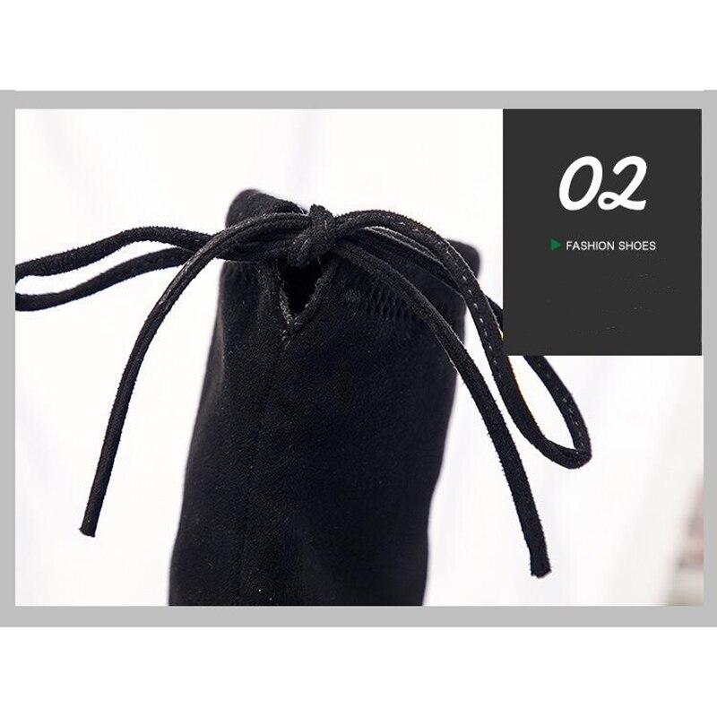 Elastiche Nero Scarpe In Autunno Inverno Nuovi Piatti Superiore 2019 Di E 013 Superfine Donna Fibra Spostare Stivali Sk Il Da kuOPXZiT