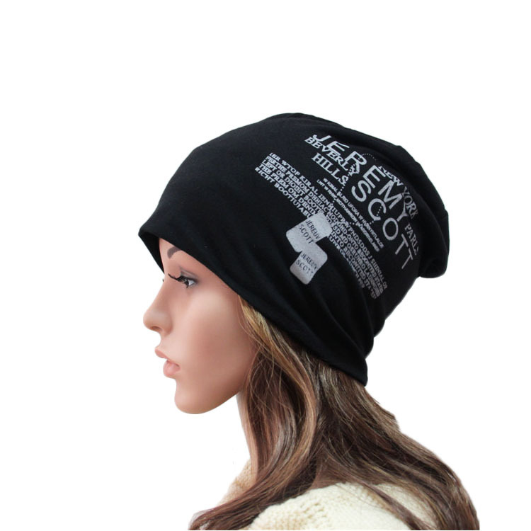 Women Men Skullies Beanies Knitted Cotton Unisex Casual Hip-Hop Print Letter Hat 7 Colors Winter Spring Autumn Beanies skullies